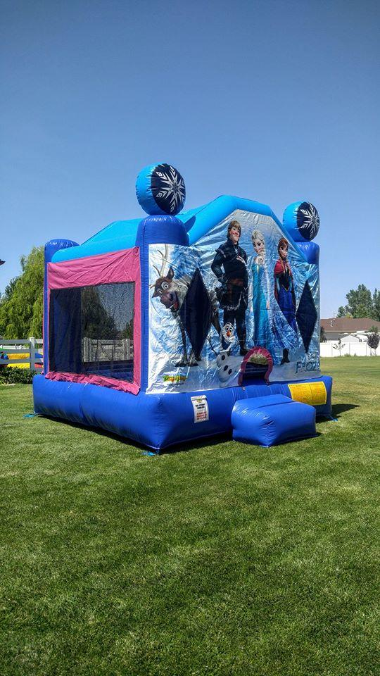 Licensed Frozen Bounce House Jumpin Jack Splash Utah