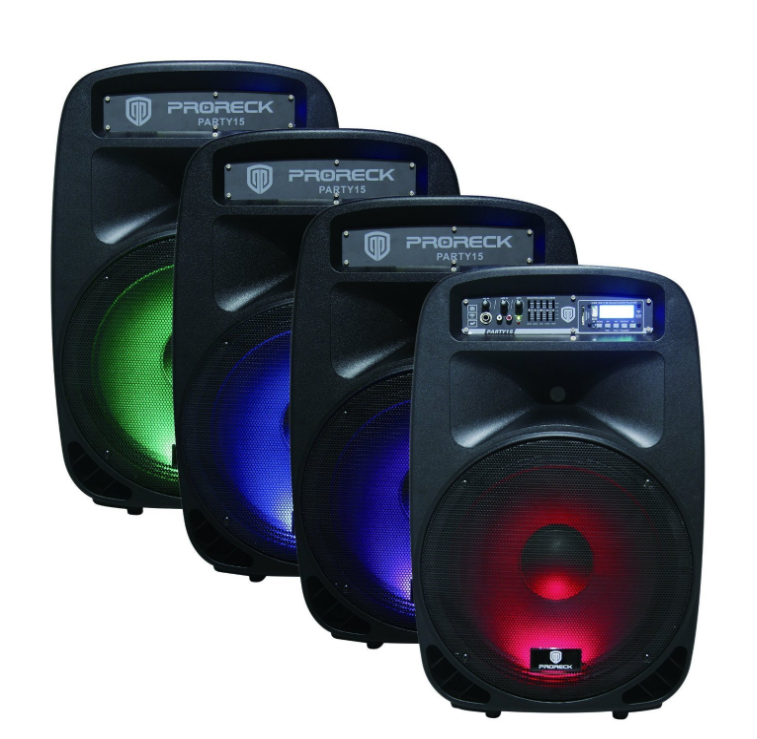 15-inch 2000w Portable Speakers with LED Lighting