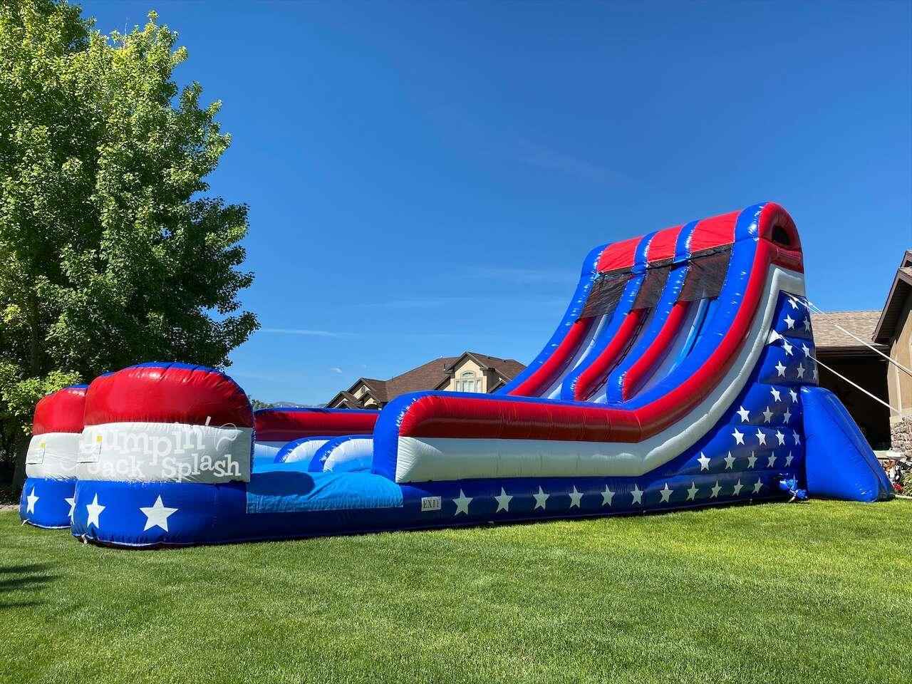 Jumpin Jack Splash 18ft All American Double Lane Slide