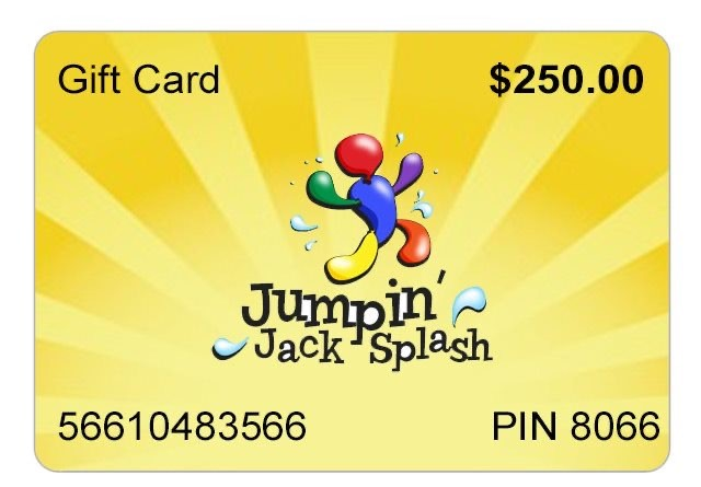 Jumpin Jack Splash Gift Cards