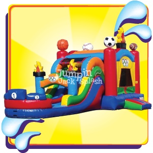 Sports Bounce House Combo-Jumpin Jack Splash