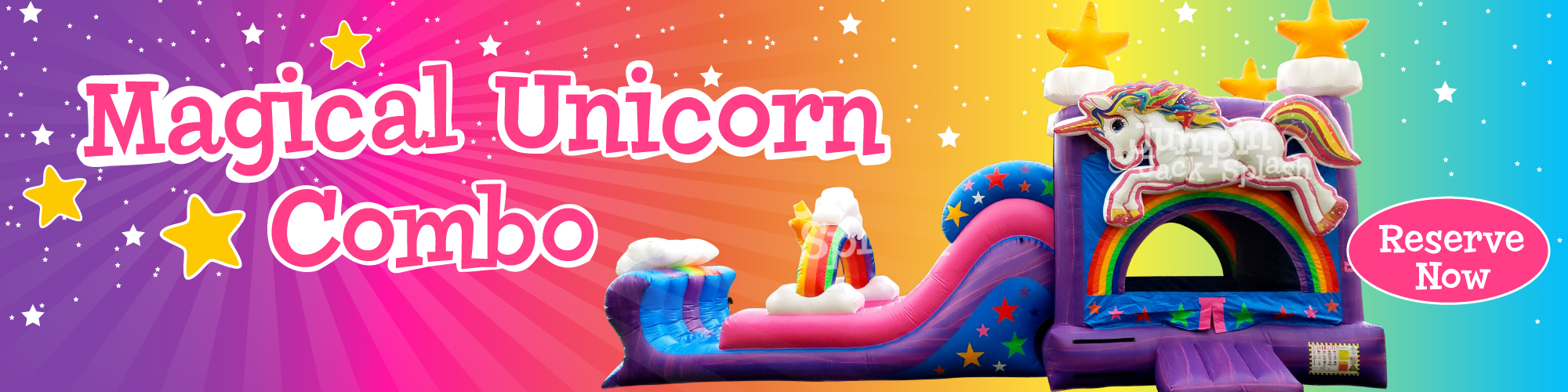 The Magical Unicorn Combo, Exclusively from Jumpin Jack Splash