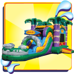 Maui Bounce House Slide Combo