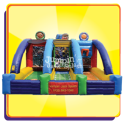 "<h5><span style=""color: blue;""><strong>Triple Play Inflatable Sports Game</span></h5> <span style=""color: red;""><medium></medium></strong></span>"