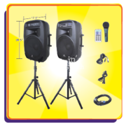 15-Inch Bluetooth DJ/PA Speaker Set