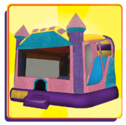 "Dazzling Castle Combo   <p><b><span style=""color:#b22222;""> Has an AWESOME 8.5ft Internal Slide-Excellent for Smaller Yards</b></span></p>"