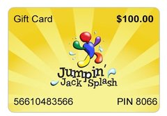 $100 Jumpin Jack Splash Gift Card Great Gift Idea!