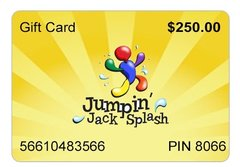 $250 Jumpin Jack Splash Gift Card Great Gift Idea!