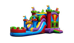 "<h5><span style=""color: blue;""><strong>Colorful Castle Combo</span></h5> <span style=""color: red;""><medium>For Children 12-yr Old and Younger</medium></strong></span>"