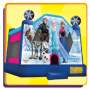 "<h5><span style=""color: blue;""><strong>Frozen Bounce House</span></h5> <span style=""color: red;""><medium>For Children 8-yr Old and Younger</medium></strong></span>"