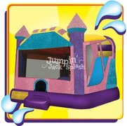 "<h5><span style=""color: blue;""><strong>Dazzling Castle Combo</span></h5> <span style=""color: red;""><medium>Has an AWESOME 8.5ft Internal Slide-Excellent for Smaller Yards</medium></strong></span>"