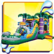 "<h5><span style=""color: blue;""><strong>Maui Bounce House Slide Combo</span></h5> <span style=""color: red;""><medium>For Children 12-yr Old and Younger. Use Wet or Dry!</medium></strong></span>"