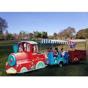 "Trackless Train<br><b><span style=""color:#b22222;"">Attendant Required. Gas Powered, Outdoor Only</b></span>"