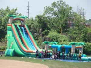 27' Tropical Two Lane Waterslide