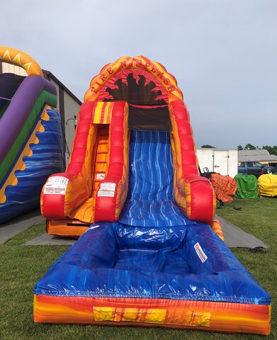 Fire and Splash Water Slide - 18ft - Single Lane