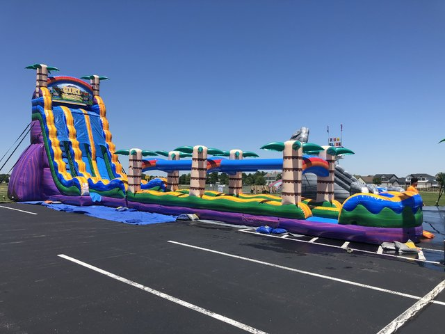 Tiki Plunge Water Slide - 27ft - 2 Lane