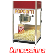 Concessions and Food-Related Items: Concessions