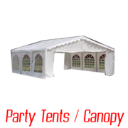 Party tents and Canopies