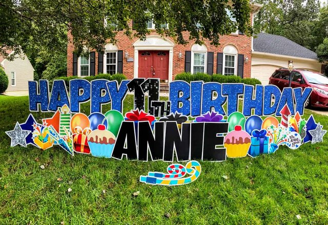 Customizable Outdoors - Happy Birthday Yard Greeting