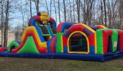 39 ft Mega Obstacle Course and Dry Slide
