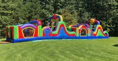 78 ft Mega Obstacle Course and Dry Slide