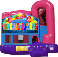 Congratulations 3-in-1 Combo w/slide Pink & Purple