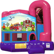 Fireman 3-in-1 Combo w/slide Pink & Purple