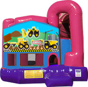 Construction Trucks 3-in-1 Combo w/slide Pink & Purple