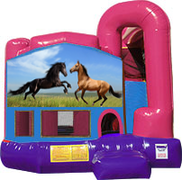 Horses 3-in-1 Combo w/slide Pink & Purple