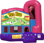Farm House 3-in-1 Combo w/slide Pink & Purple