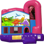 Dinosaurs 3-in-1 Combo w/slide Pink & Purple