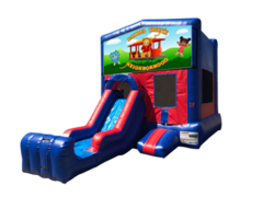Daniel Tiger Mini Red & Blue Bounce House Combo w/ Single Lane Dry Slide