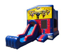 Lego Batman Mini Red & Blue Bounce House Combo w/ Single Lane Dry Slide
