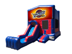 Cleveland Cavaliers Mini Red & Blue Bounce House Combo w/ Single Lane Dry Slide