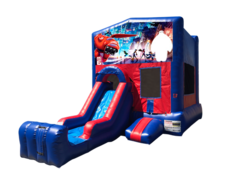 Big Hero 6 Mini Red & Blue Bounce House Combo w/ Single Lane Dry Slide