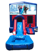 Disney Frozen Mini Red & Blue Bounce House Combo w/ Single Lane Water Slide