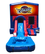 Cavaliers Mini Red & Blue Bounce House Combo w/ Single Lane Water Slide