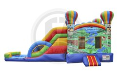 A Adventure Bounce House Combo w/Dual Lane Water Slide