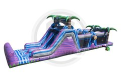 47 ft Purple Crush Obstacle Course with Waterslide