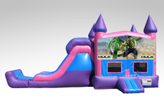 Hulk Pink and Purple Bounce House Combo w/Single Lane Dry Slide