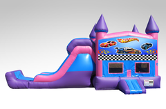 Hot Wheels Pink and Purple Bounce House Combo w/Single Lane Dry Slide