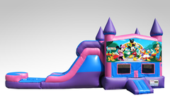 Mickey Mouse Clubhouse Pink and Purple Bounce House Combo w/Pool