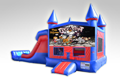 Halloween Red and Blue Bounce House Combo w/Dual Lane Dry Slide
