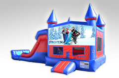 Disney Frozen Red and Blue Bounce House Combo w/Dual Lane Dry Slide