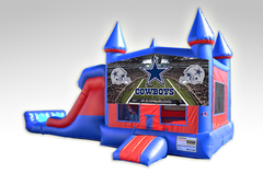 Dallas Cowboys Red and Blue Bounce House Combo w/Dual Lane Dry Slide
