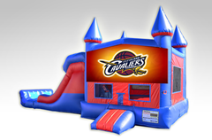 Cleveland Cavaliers Red and Blue Bounce House Combo w/Dual Lane Dry Slide