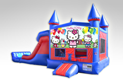 Hello Kitty Red and Blue Bounce House Combo w/Dual Lane Dry Slide