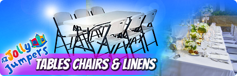tables chairs and linenes