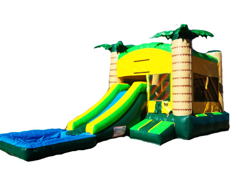 3 in 1 Tropical Bounce House Combo (Wet/Dry)