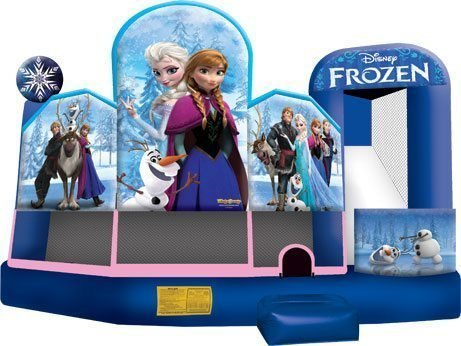 Frozen 5 in 1 wet dry Bounce House Slide Combo